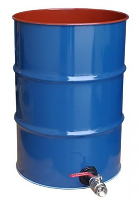 205 Litre Collection Drum with Liquid Drain Tap