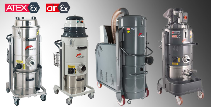 Combustible Dust Industrial Vacuum Cleaners