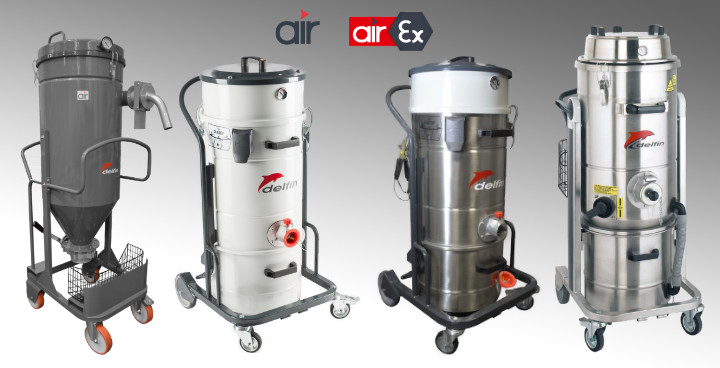 Compressed Air Industrial Vacuum Cleaners