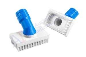 Coloured rectangular brush cleaning attachment - blue